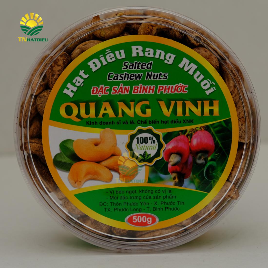 Hạt Điều Rang Muối A+ Campuchia  Hộp 500g